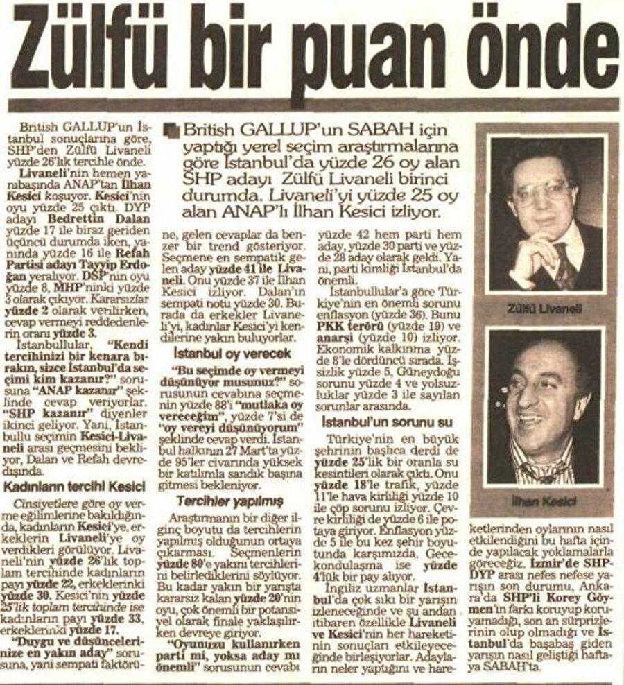 Bazı anket şirketleri seçime az bir süre kala Livaneli'nin seçimi kazanacağını açıklamıştı.