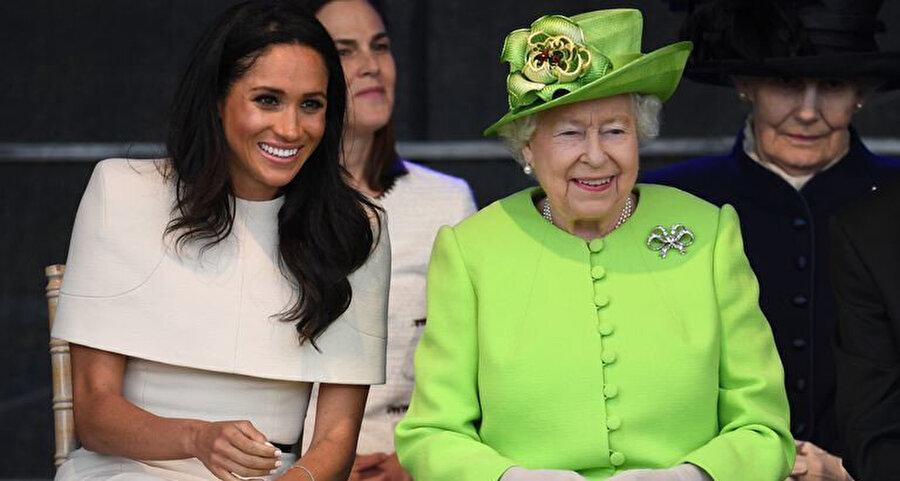 Meghan Markle ve Kraliçe.
