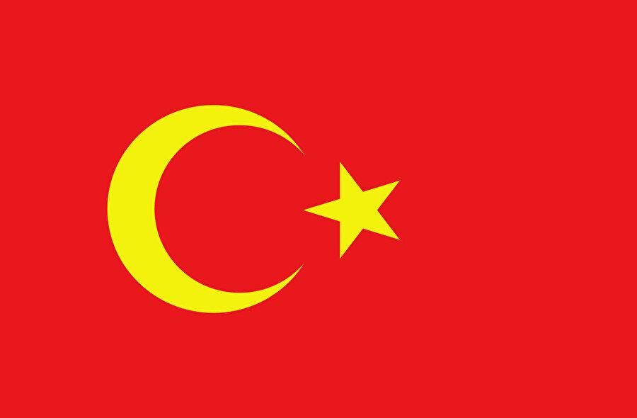 Türkiye Cumhuriyeti bayrağına benzerliğiyle dikkat çeken Alaş Orda Hükümeti'nin bayrağı.