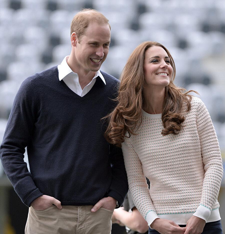 Prens William ve eşi Kate Middleton.