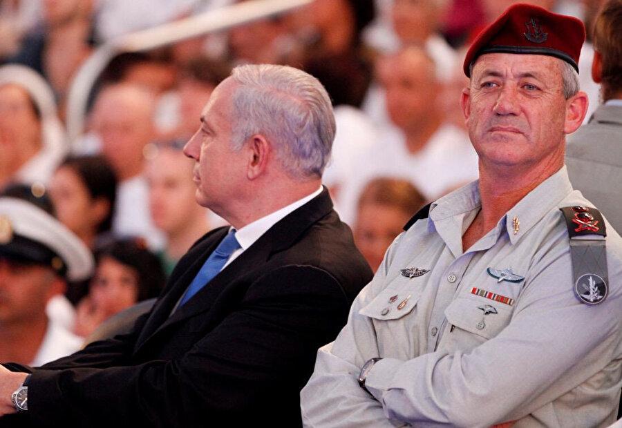 İsrail Başbakanı Benjamin Netanyahu'nun rakibi Benny Gantz