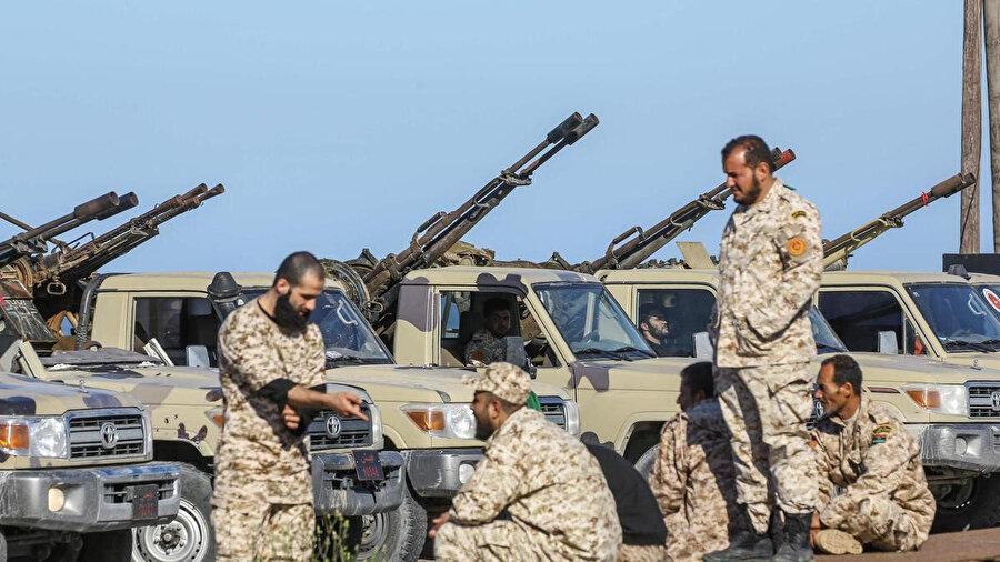 Ulusal Mutabakat Hükümetine bağlı Misrata güçleri.