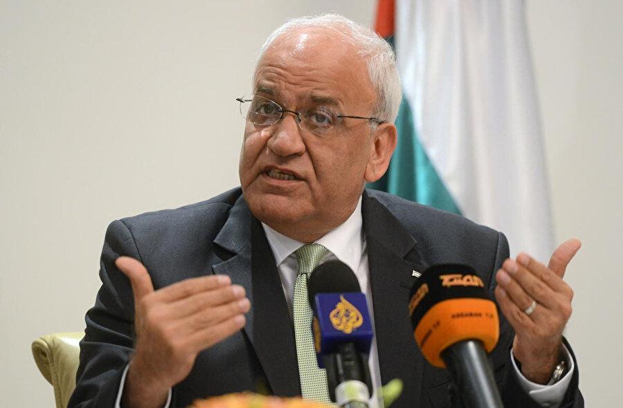 Filistin Kurtuluş Örgütü (FKÖ) Genel Sekreteri Saib Ureykat.