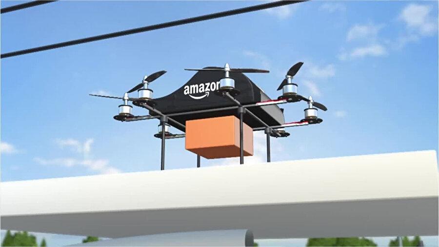 Amazon'un drone ile yaptığı teslimatlar, şirketin en ilerici hamlelerinden biri olarak değerlendiriliyor.