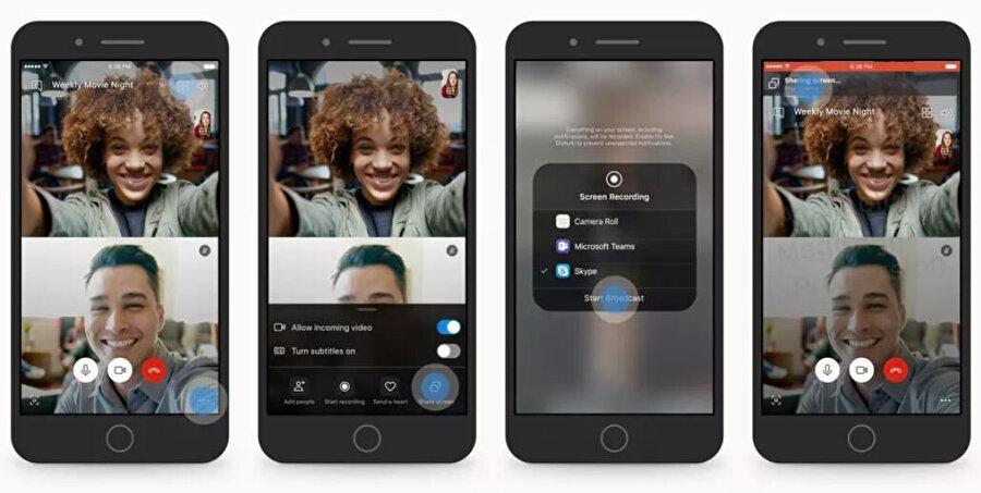 Skype, güncelleme sayesinde 'ekran paylaşma' özelliği kazanıyor. Bu sayede görüntülü görüşmeler sırasında ekran paylaşımı yapılabiliyor.