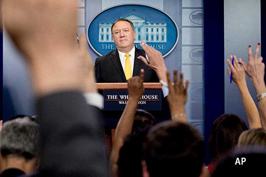 Gazetecilerin sorularını yanıtlayan Pompeo, ABD'nin mülteci karşıtlığı hakkında açıklamalar yaptı.