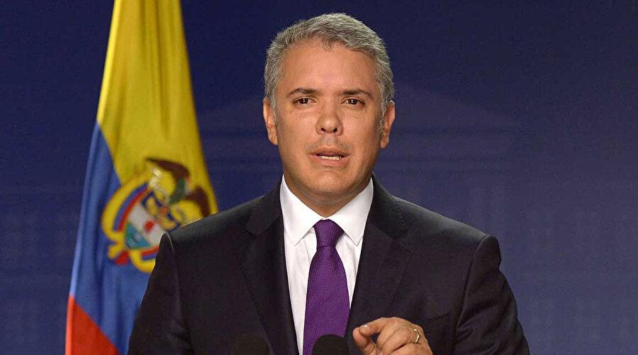 Kolombiya Devlet Başkanı Ivan Duque.