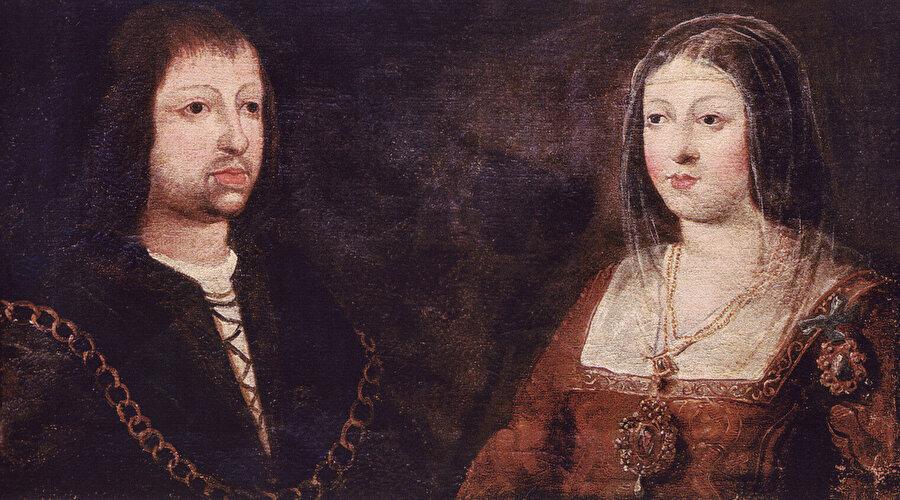 Kastilya Kraliçesi İsabella ile Aragon Kralı Ferdinand.