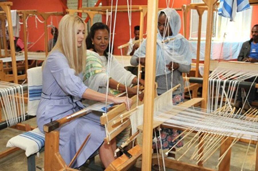 Ivanka Trump, Etitopya'da kadınların desteklenmesi için düzenlenen bir dizi etkinliğe katılmıştı.