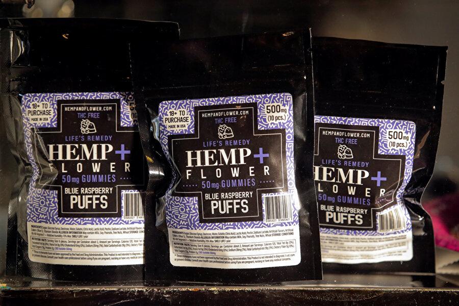New York'ta bir kahve dükkanında sergilenen kahveler.