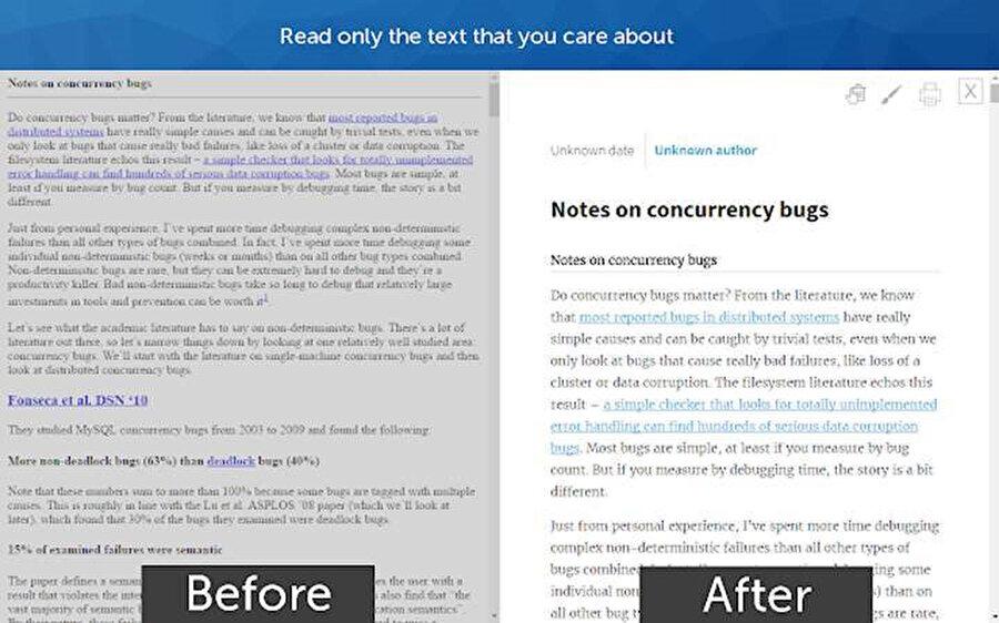 Google Chrome'daki okuma modu özelliği açıldığında sağdan font, zemin rengi ve birkaç ayarlama daha yapılabiliyor.