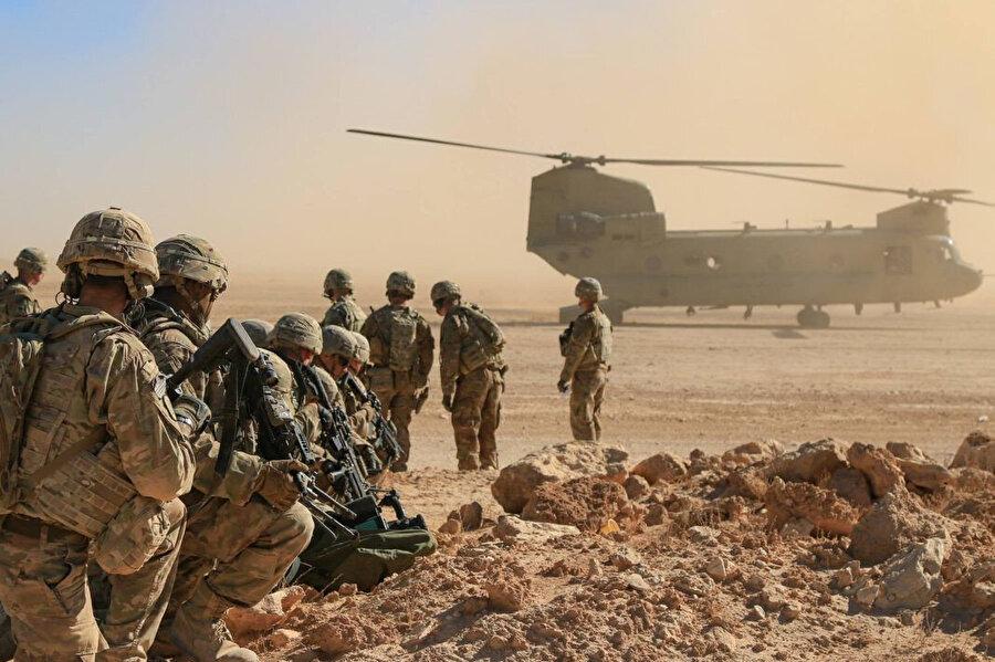 Afganistan'daki Amerikan askerleri.