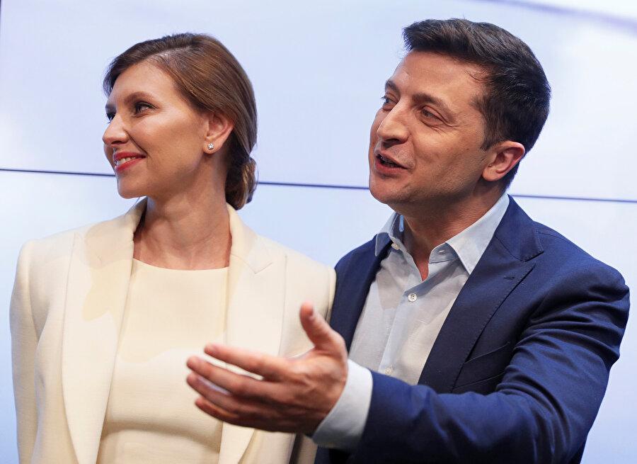 Olena-Vladimir Zelenskiy çifti