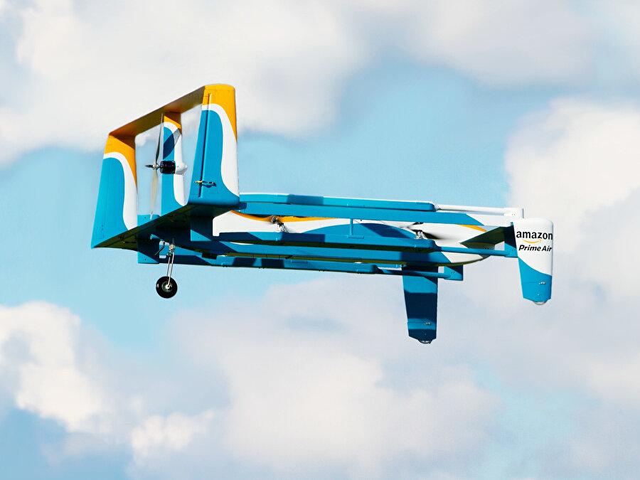 Amazon, drone taşımacılık konusunda en iddialı şirketler arasında değerlendiriliyor.