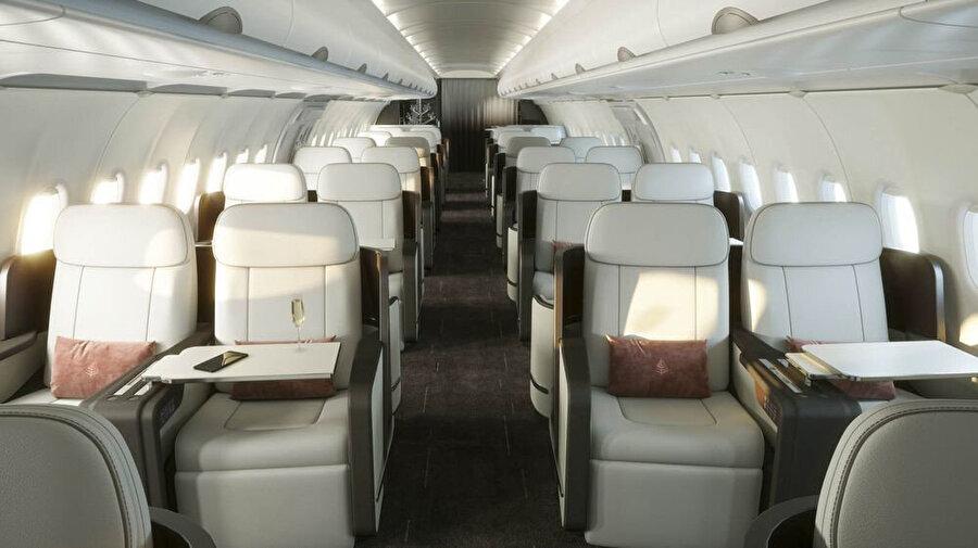 Uçağın iç dizaynında da çeşitli değişiklikler yapılıyor.