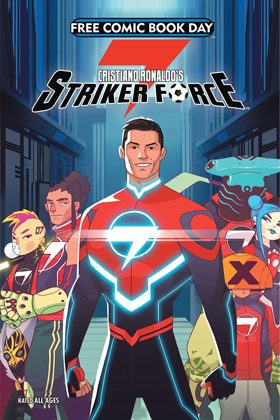 Striker Force 7'nin 'bedava çizgi roman günü'ne özel kapağı.