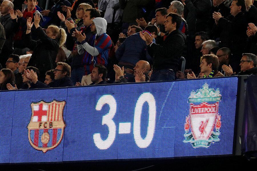 Karşılaşmaya, Lionel Messi'nin frikikten attığı gol damga vurdu.