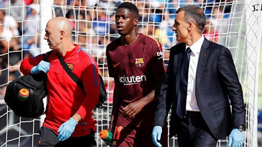 Dembele, Barça formasıyla çıktığı 3. maçta sakatlık yaşamıştı.