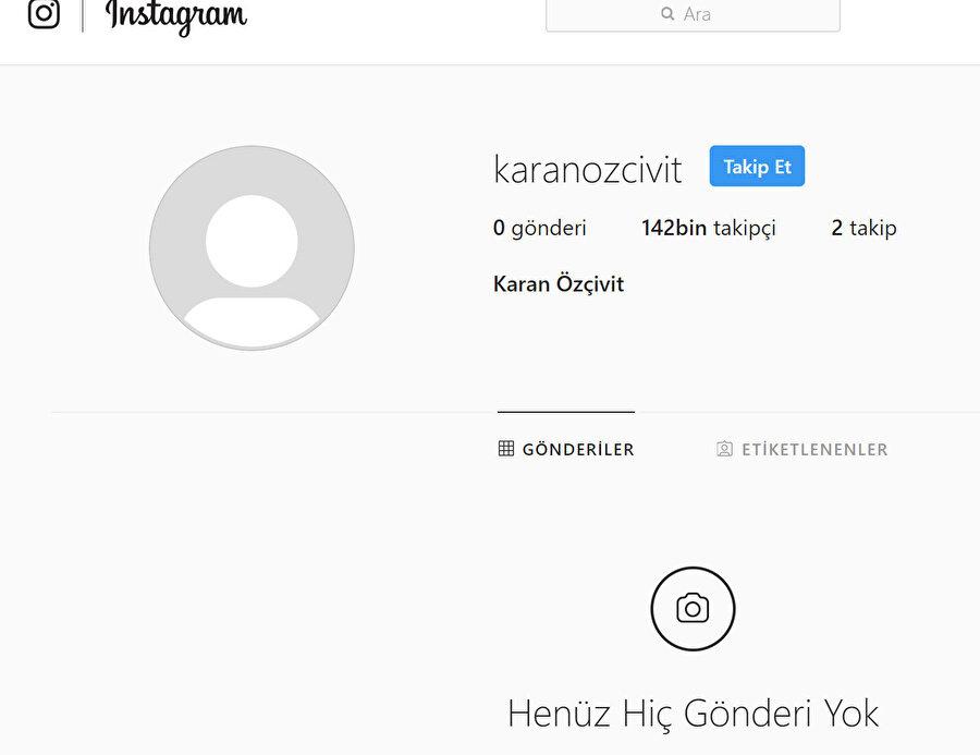 Karan Özçivit'in hesabı.