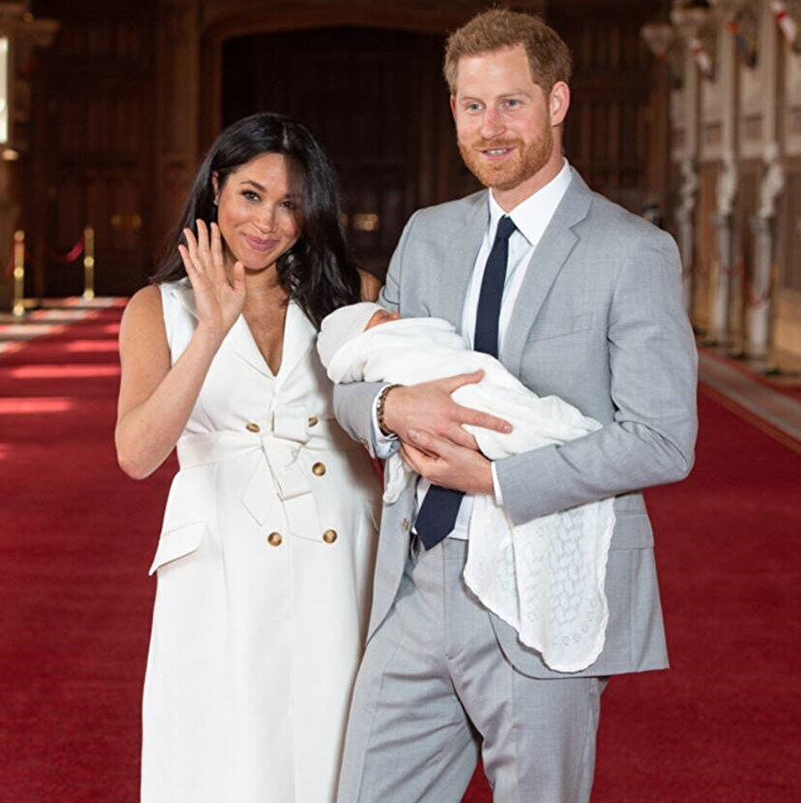 Prens Harry, Meghan Markle ve bebekleri.