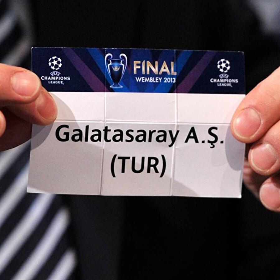 2013'te çekilen kura çekiminde Galatasaray'ın kağıdı.