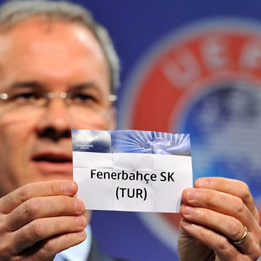 Fenerbahçe'nin Şampiyonlar Ligi'nde mücadele ettiği son sezona ait kura kağıdı.