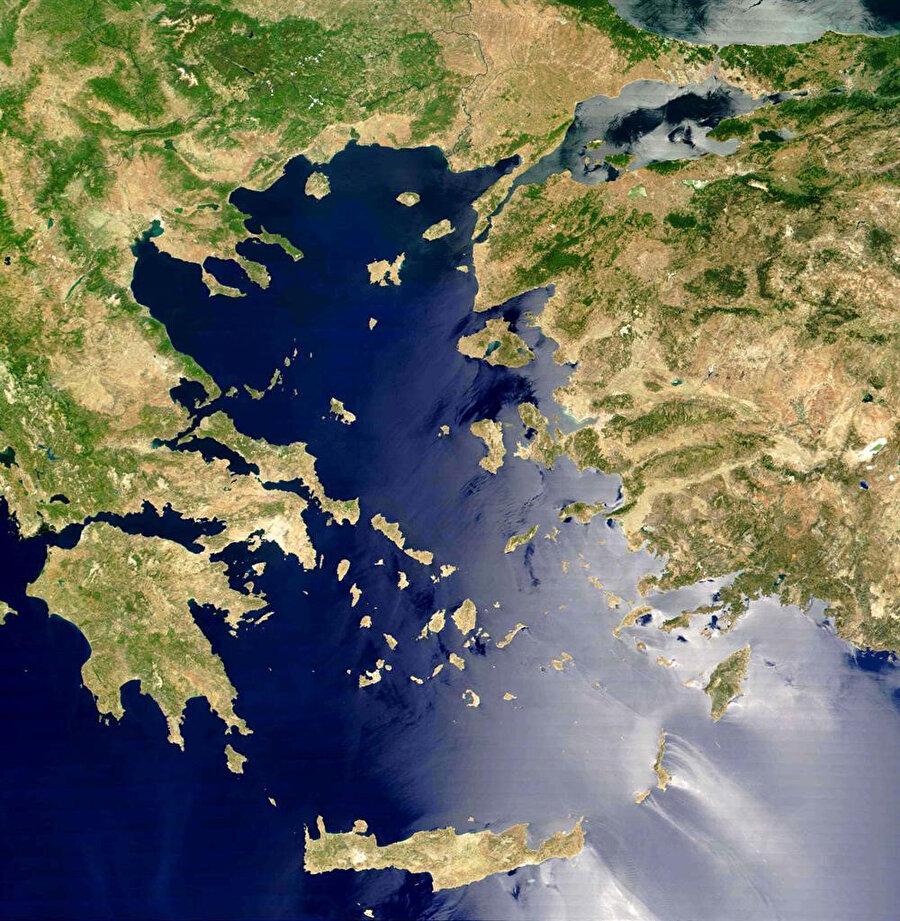 Ege bölgesi uydu görüntüsü