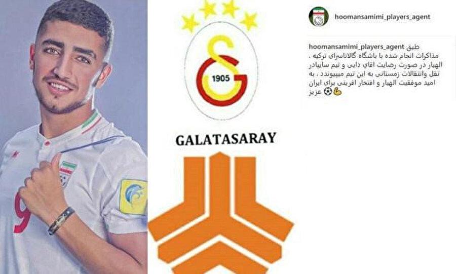 Allahyar Sayyadmanesh'in Galatasaray'a transfer olmasını engelleyen o paylaşım.