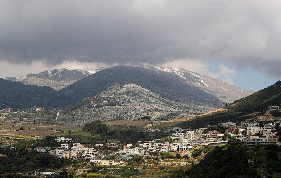 İsrail tarafından işgal edilen Golan Tepeleri.