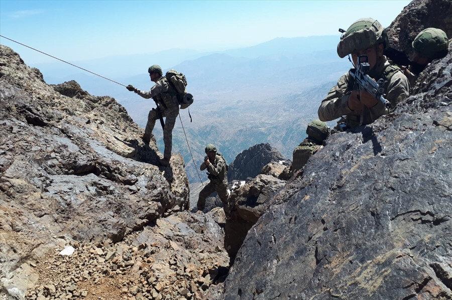 Pençe Harekatı'nda görev alan askerlerimiz.