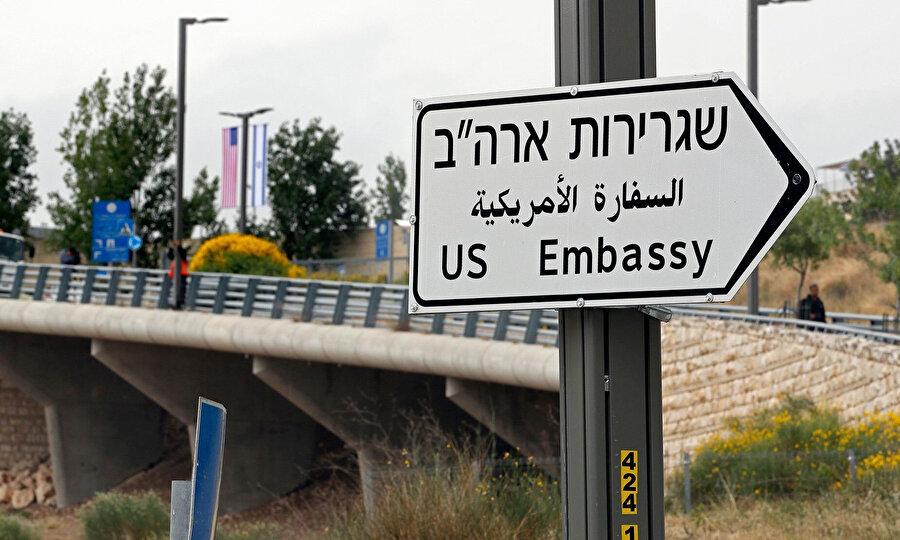 Kudüs'ü, sözde İsrail'in başkenti olarak tanıyan ABD, elçilik binasını Kudüs'e taşımıştı.