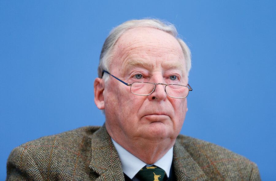 Almanya'daki Avrupa Parlamentosu (AP) seçimlerinde oylarını artıran aşırı sağcı popülist Almanya için Altternatif (AfD) partisi oldu. AfD Genel Başkanı Alexander Gauland fotoğrafta görünüyor.