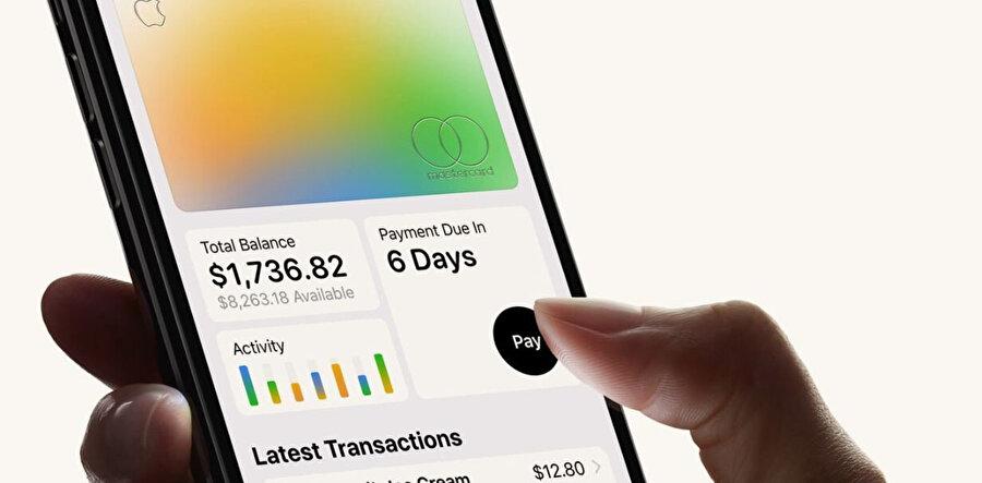 Apple kartın mobil uygulaması harcama türüne göre renklenerek kullanıcılara hoş bir detay sunuyor.