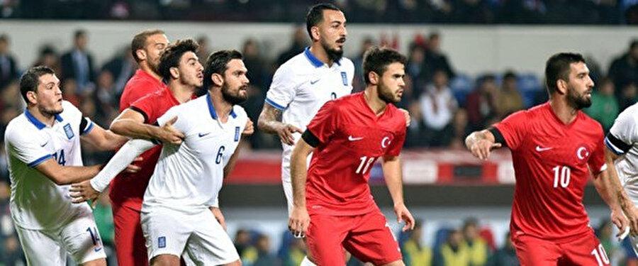 17 Kasım 2015 tarihinde oynanan Türkiye - Yunanistan maçından bir kare.