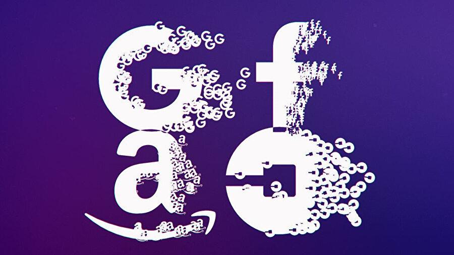 Dünya devi teknoloji platformlarının veri paylaşımlarını sembolize eden illüstrasyon.