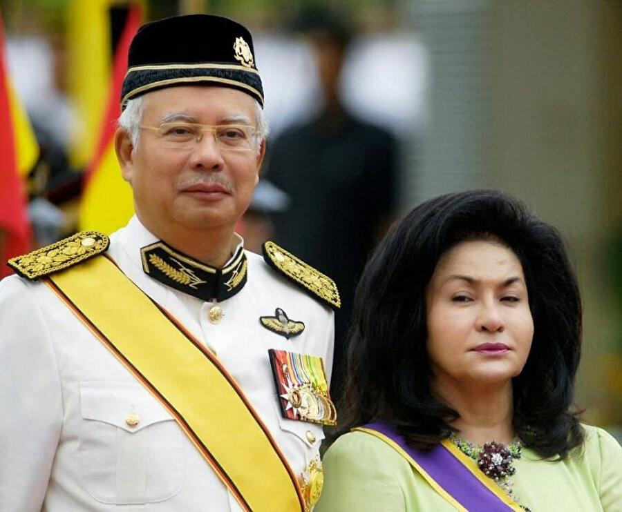 Başbakan Necib Rezzak ve karısı Rosmah Mansor.