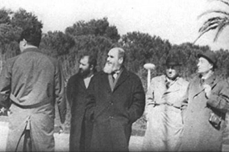 Humeyni'nin Bursa'da sürgündeyken çekilmiş bir fotoğrafı.