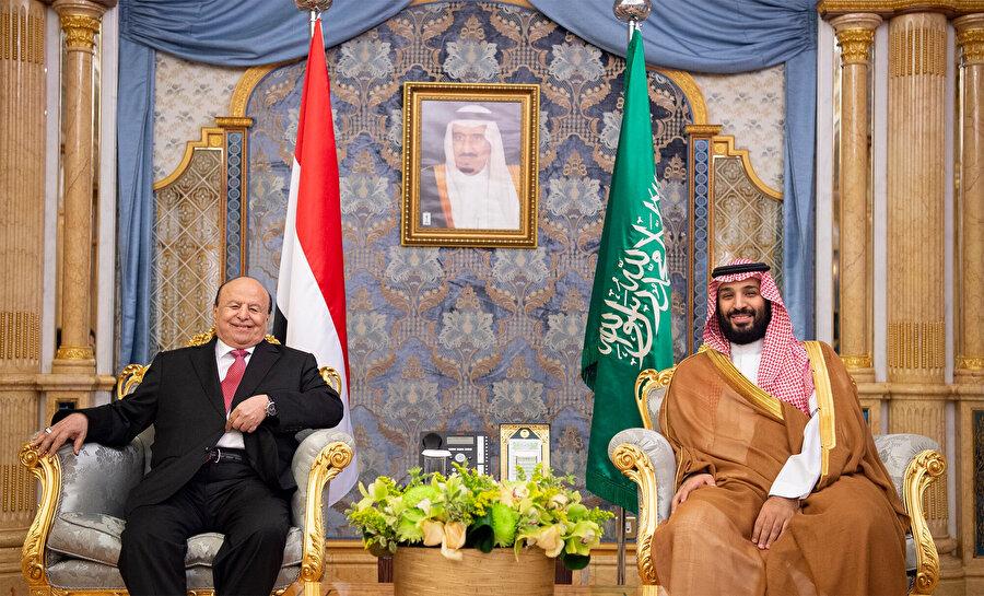 Yemen Cumhurbaşkanı Abdurabbu Mansur Hadi ve Suudi Arabistan Veliaht Prens bin Selman