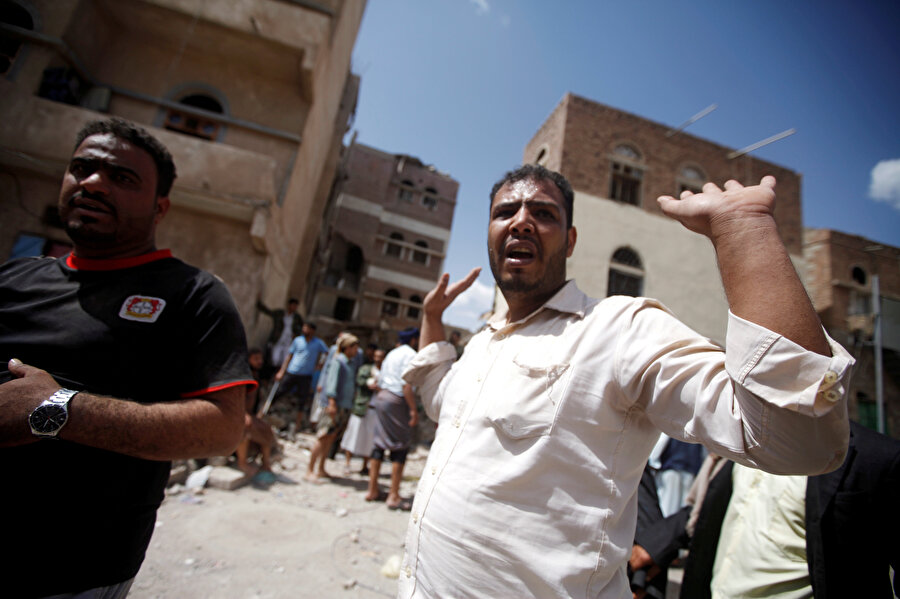 Yemen'in San'a kentinden bir kare.