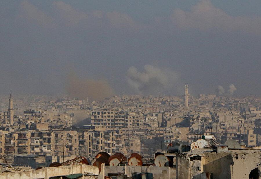 Suriye'nin İdlib kenti genel görünüm