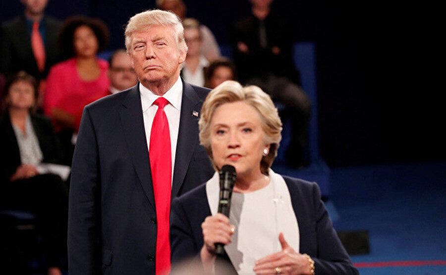 ABD'de 2016 Başkan Adayları Hillary Clinton ve Donald Trump açık oturumda tartışıyor.