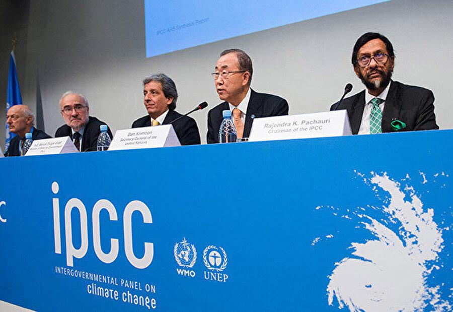 Hükümetlerarası İklim Değişikliği Paneli, birçok ülke temsilcisini 'iklim değişikliği' konusunda bir araya getiriyor.