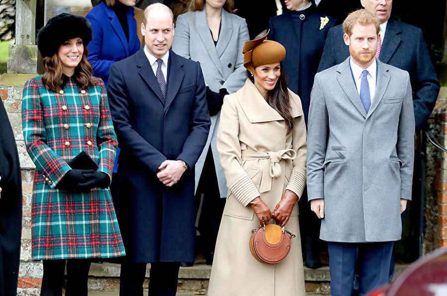 Kraliyet üyeleri Kate Middleton, Prens William, Meghan Markle, Prens Harry