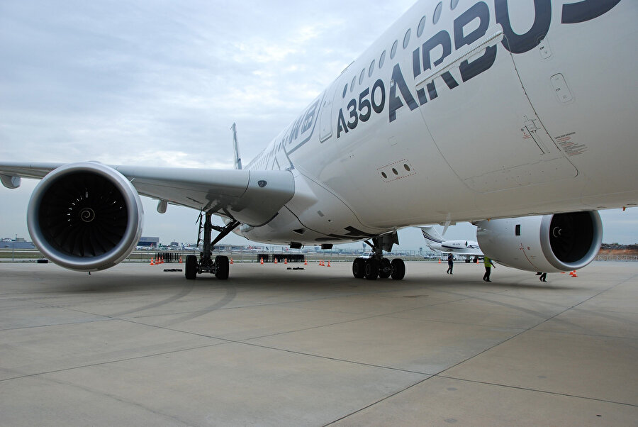 Airbus A350 model yolcu uçağı böyle görüntülenmişti.