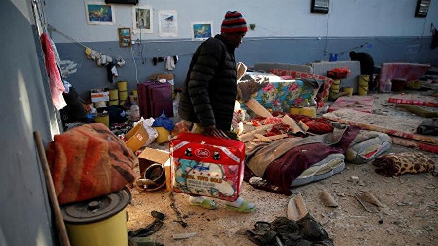 Vurulan göçmen merkezi, Tacura bölgesindeki bir askeri üssün yanında yer alıyordu.