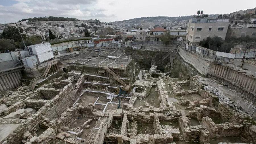 Elad tarafından Silvan Mahallesine yakın bir bölgede yürütülen arkeolojik kazılar.