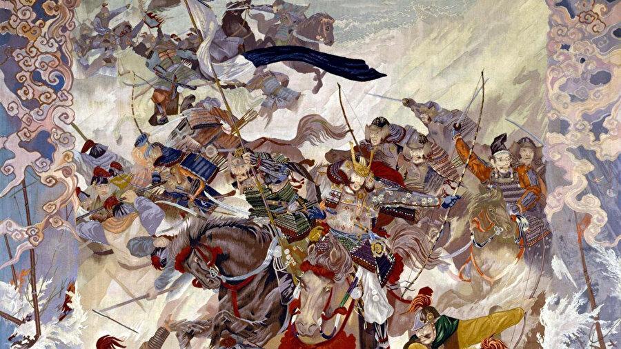 İstilacı Moğol askerleri.