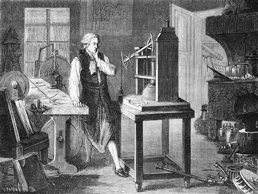 James Watt, buharlı makinenin mucidi. 1769.