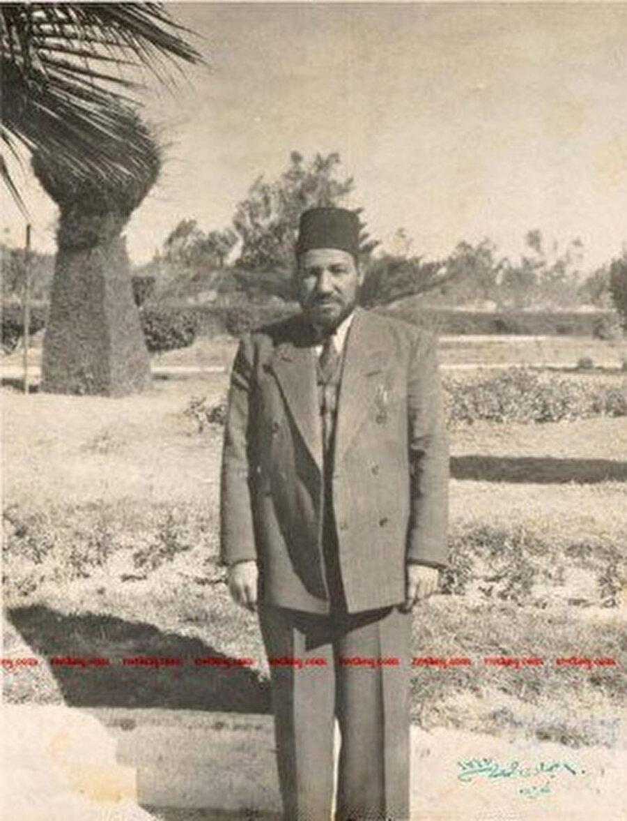 Hasan el Bennâ, İsrail'in kurulmasından kısa süre önce, 1947'de Gazze'de.