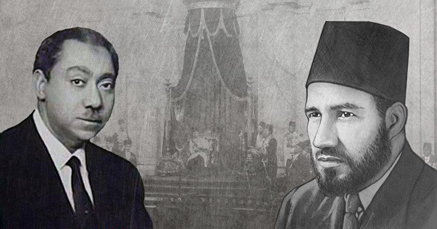 Seyyid Kutub'un (solda) ortaya koyduğu yorumlama, İhvân'ın kurucu lideri Hasan el Bennâ'nın çizgisinden bir tür sapma olarak kabul edilir.